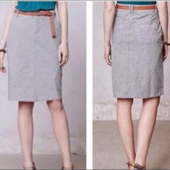 1b6ca342366 Anthropologie Dresses   Skirts -  Pilcro and the Letterpress  striped denim  skirt